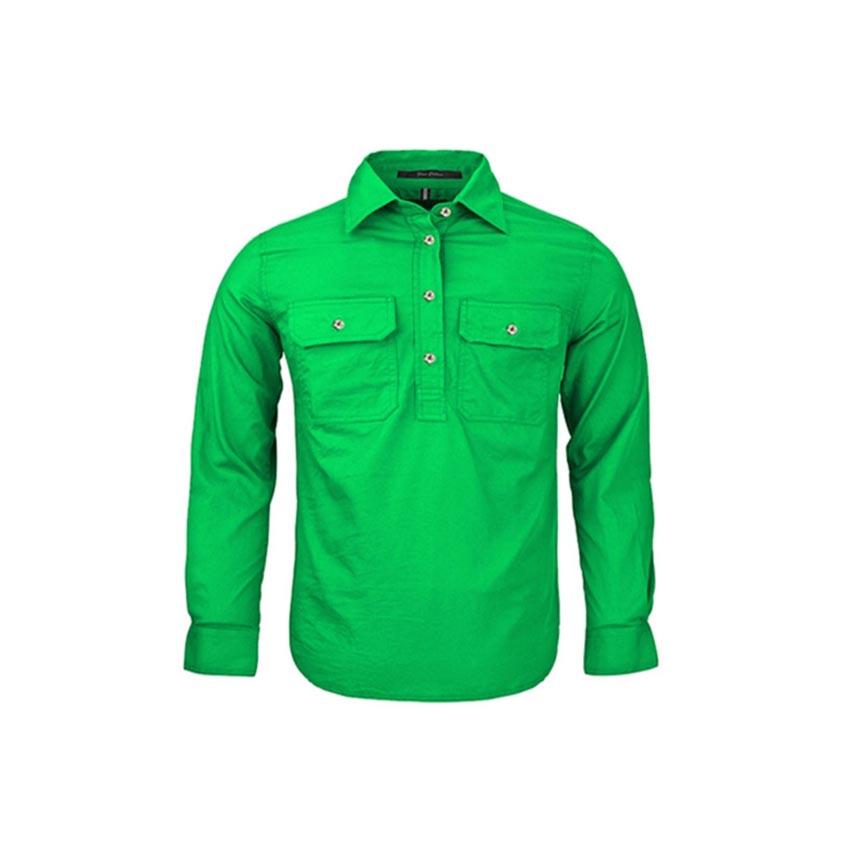 Pilbara Closed Front Long Sleeve Kids Shirt