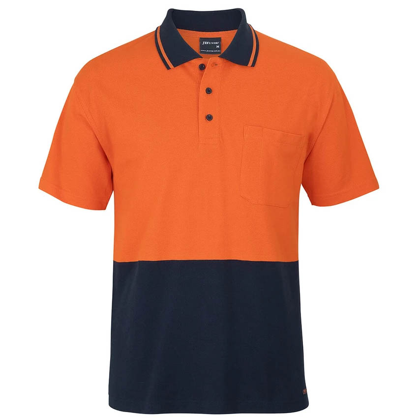 Hi-Vis Cotton Piquie Traditional Mens Polo - Short Sleeve
