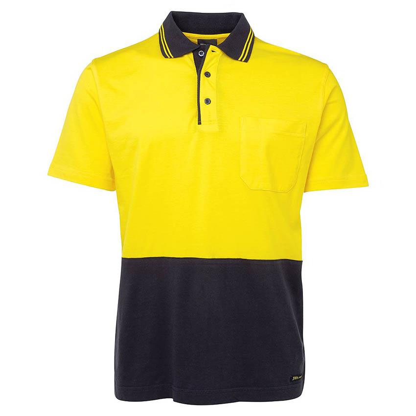 Hi-Vis Cotton Mens Polo - Short Sleeve