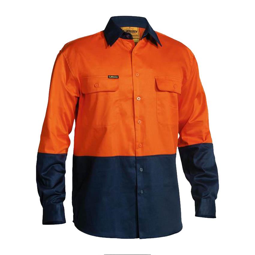 Hi-Vis Drill Mens Shirt - Long Sleeve