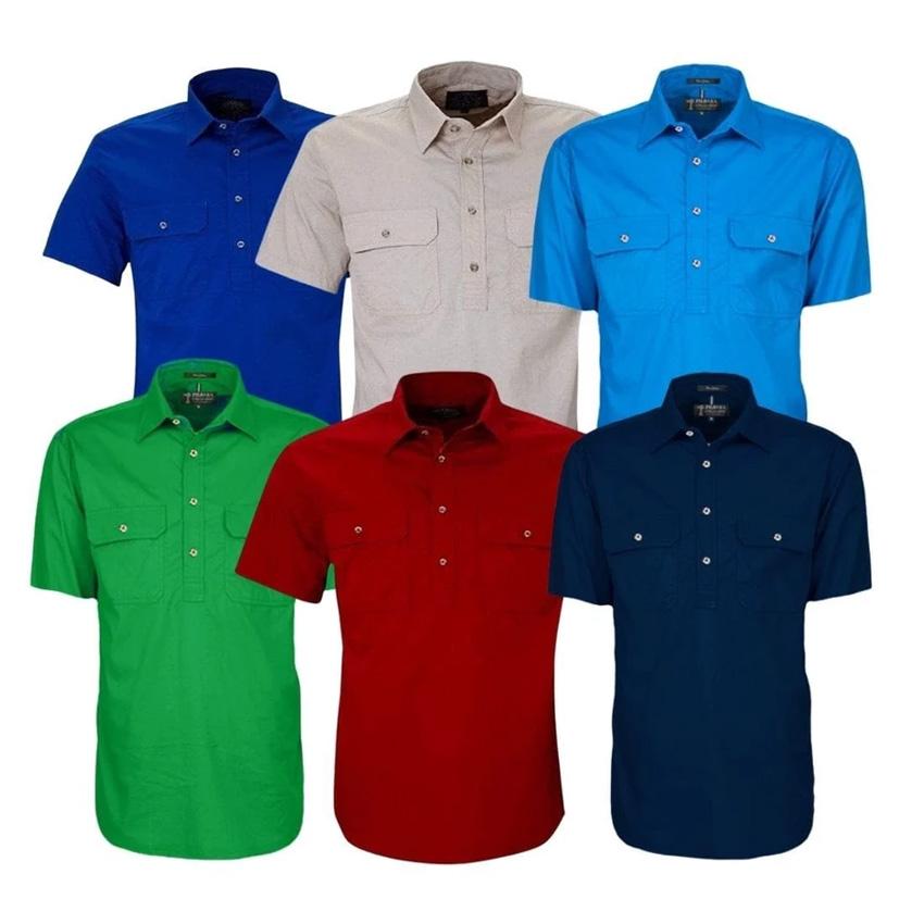 Pilbara Closed Front Short Sleeve Mens Shirt