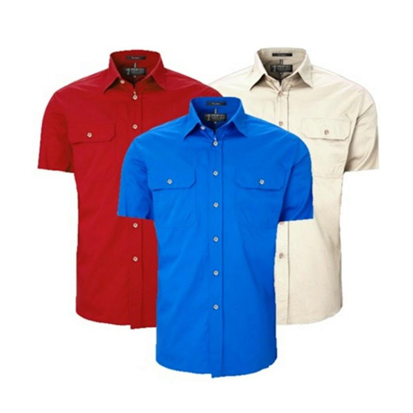 Pilbara Open Front Short Sleeve Mens Shirt