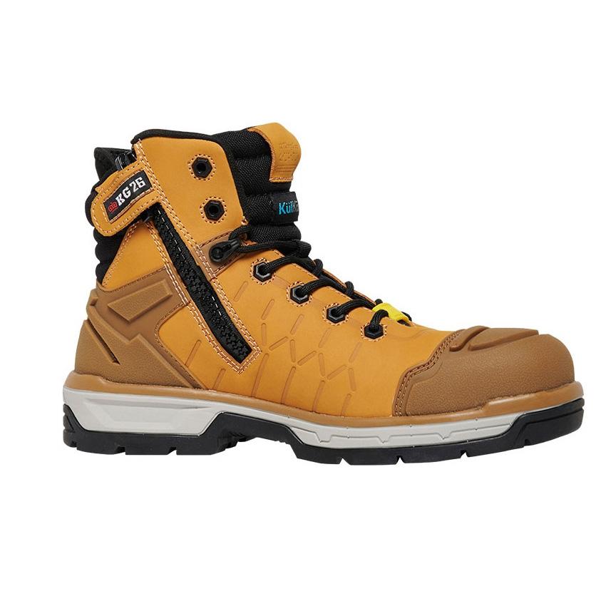 Quantum Side Zip Mens Boot - Wheat/Black