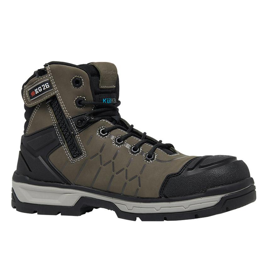 Quantum Side Zip Mens Boot - Cedar/Black
