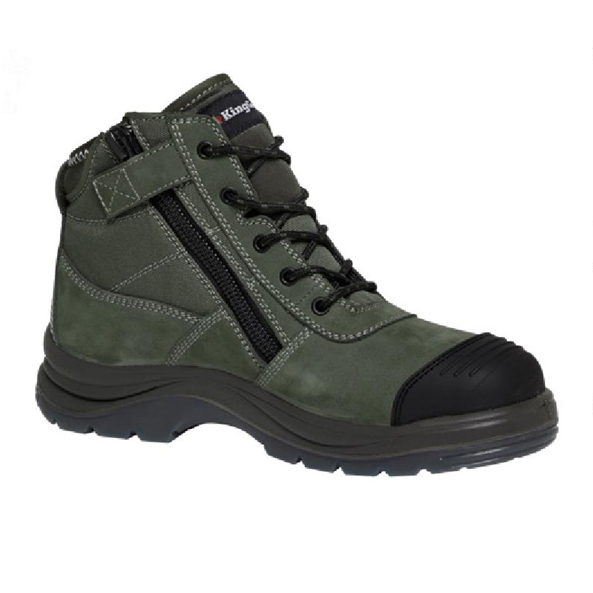 Tradie Side Zip Mens Boot - Khaki