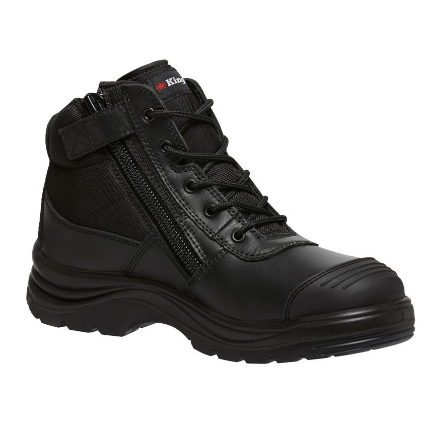 Tradie Side Zip Mens Boot - Black