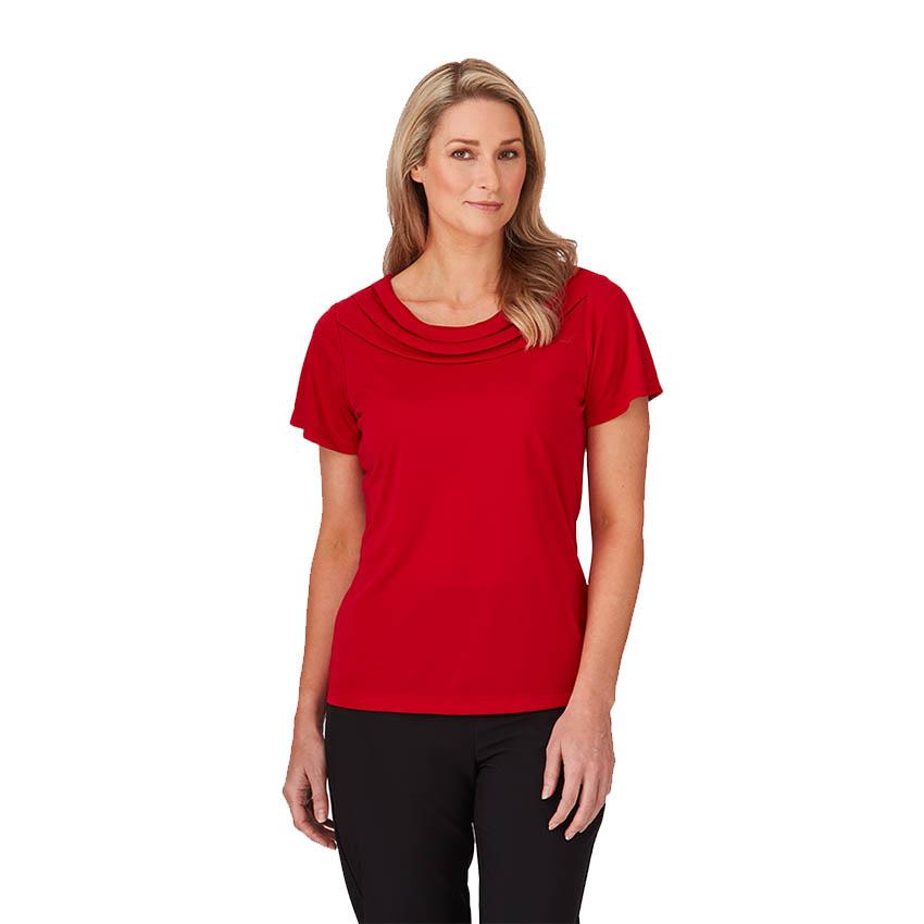 Eva Knit Short Sleeve Ladies Shirt