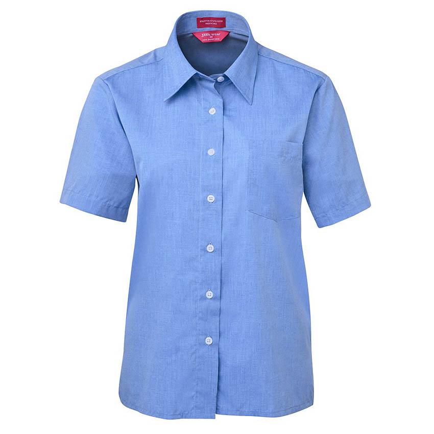 Short Sleeve Fine Chambray Ladies Shirt
