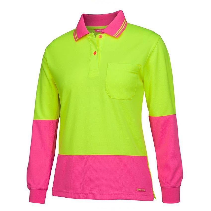 Hi-Vis Long Sleeve Comfort Ladies Polo