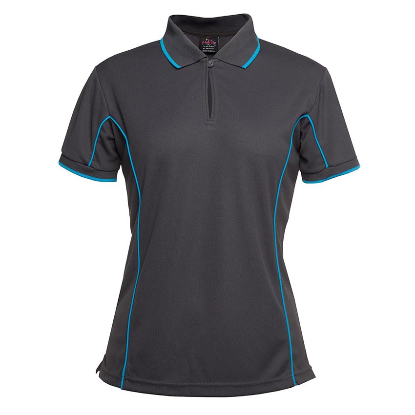 Poly Piping Ladies Polo