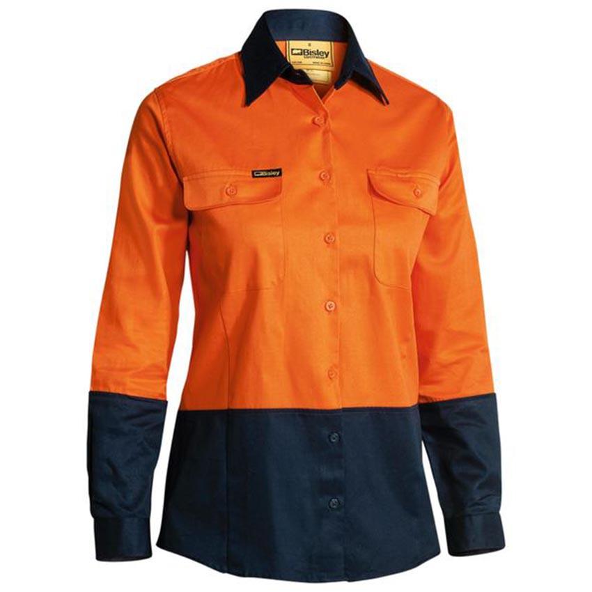 Hi-Vis Drill Ladies Shirt