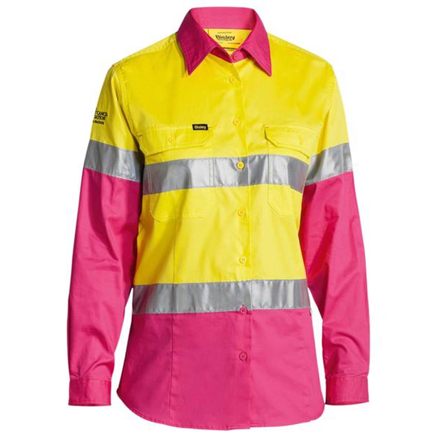 Taped Hi-Vis Cool Lightweight Drill Ladies Shirt