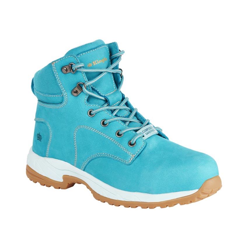 Tradie Side Zip Ladies Boot - Teal