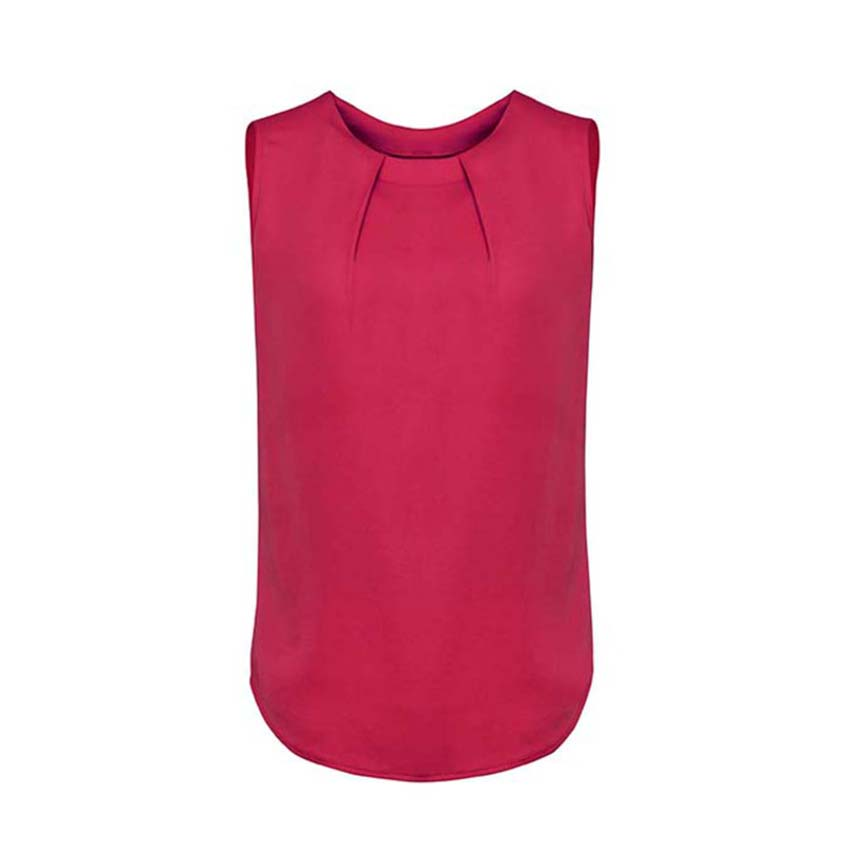 Estelle Sleeveless Pleat Detail Ladies Blouse