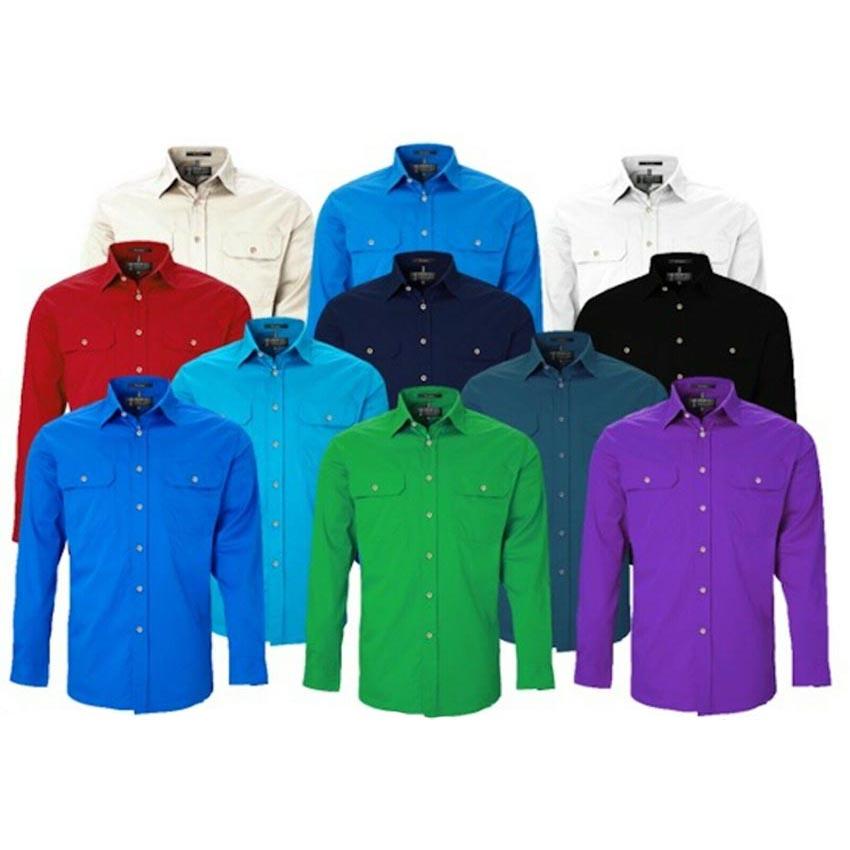 Pilbara Open Front Long Sleeve Ladies Shirt