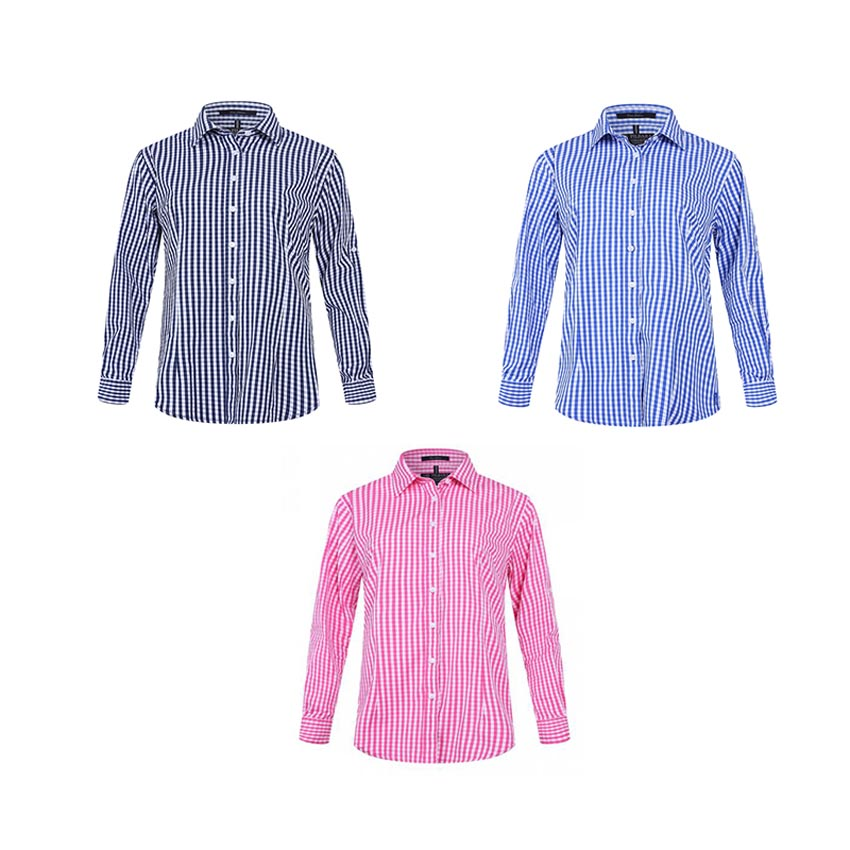 Pilbara Ladies Check Long Sleeve Shirt