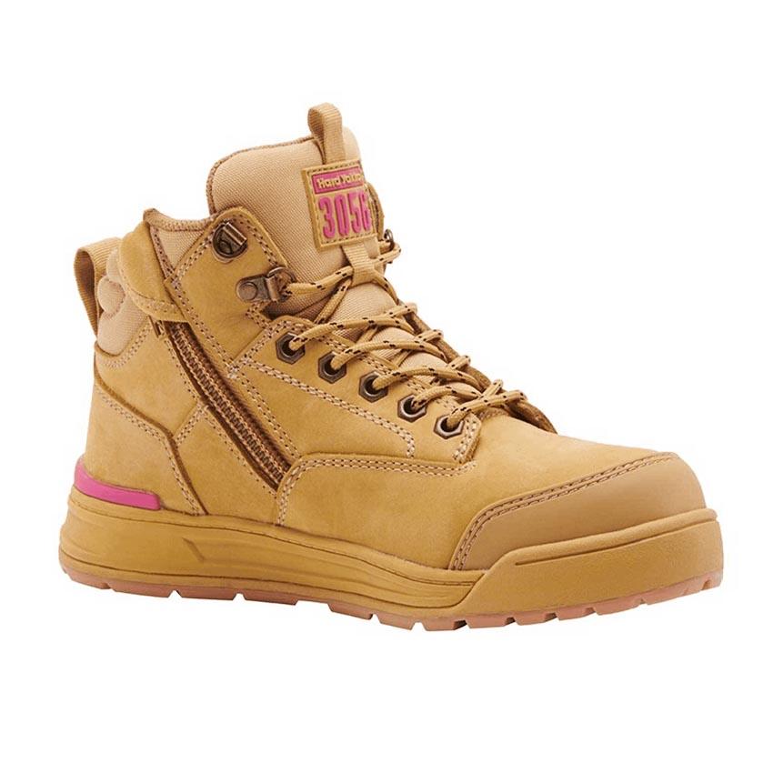 3056 Side Zip Ladies Boot - Wheat